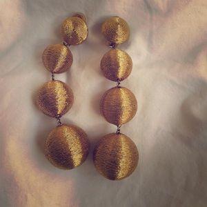 Rebecca de Ravenel gold les bon bon earrings